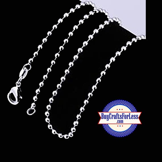 """Ball CHAIN, Silver PLATED, 24"""", 2.4mm +FREE SHiPPiNG & Discounts*"""