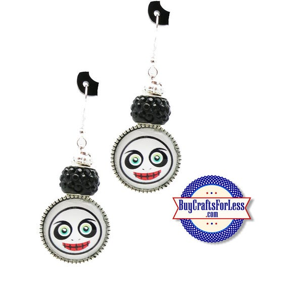 "HALLOWEEN ""SPooK"" EARRiNGS, Glass Cabochon, Sparkle Beads, FREE Gift BoX!!  +FREE SHiPPiNG & Discounts*"