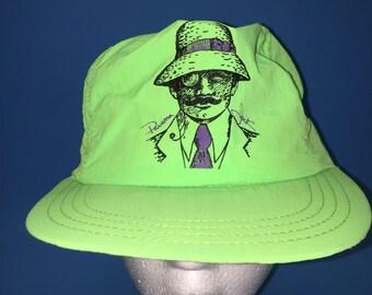Vintage panama jack trucker snapback hat adjustable neon green