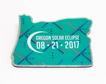 Oregon Eclipse Magnet