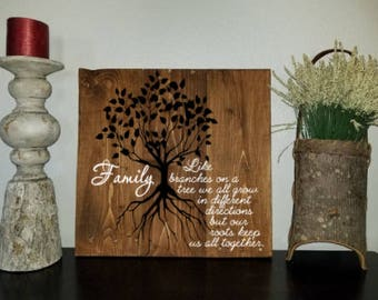 Family Root Tree Wooden Sign