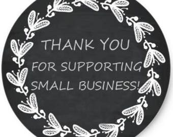 """24PCS """"Thank You For Supporting My Business"""" Rustic Stickers, Seals, Stationary, Paper, Paper Stickers, Stickers, Paper Supplies"""