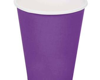 50 Ct Purple Poly Paper Cups 9oz Hot/Cold, Party Supplies, Wedding Supplies, Party, Wedding, Paper Cups, Beverage Cups, Cups, Supplies