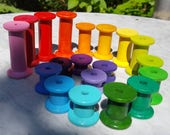Rainbow Building Set of MultiUse Reels Pillars Table Bases Seats Bench Legs Small World Imagination Boosters