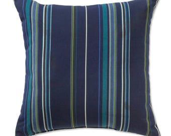 SET Of 2 Sunbrella STANTON LAGOON - Pillow Covers - Throw Pillow Covers - Toss  Pillows - Outdoor Pillows Sunbrella - Striped Pillows