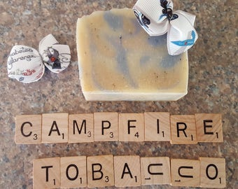 Blue Camo Soap for JDRF Awareness (Campfire & Tobacco Scent)