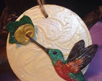 Hummingbird Ornament, Christmas Ornament,Bird Art, Hummingbird painting,polymer clay,nature ornaments