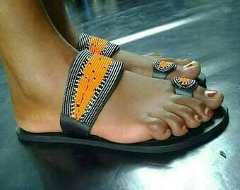 Maasai Beaded Sandals