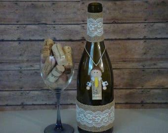groom cork ornament, gift for groom, groom gift, bride and groom gift, groom gift idea, christmas ornament, wine cork, wine cork gift, groom
