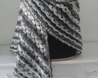 Knitted shawl, Shawl warm, handmade, gift, for women, exclusive, shawl, accessory, Ukrainian, original, hristmacs, mohair wool acrylic