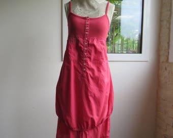 Dress COP-Copine - Color Fuchsia - jersey - Cotton - Size 40 - Vintage