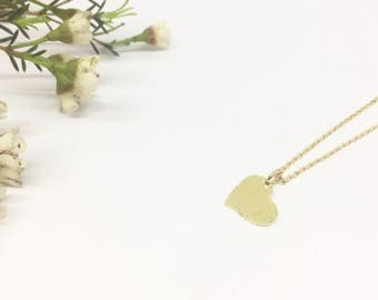 """""""Margaux"""" gold plated, vermeil Heart Necklace"""