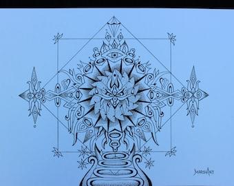 Third eye mandala print