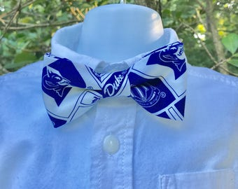 Duke Adult Toddler Bow Tie; Duke Adjustable Bow Tie for Toddler; Duke Baby Bow Tie; Bow Tie for Baby up to Ages 7-8; Child's Bow Tie