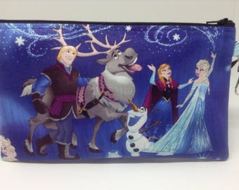 Disney Frozen Characters Zipper Pouch ~ School Supply Case ~ Cosmetics Bag ~ Pencil Pouch ~ Essentials Pouch ~ Complete Supply Pouch
