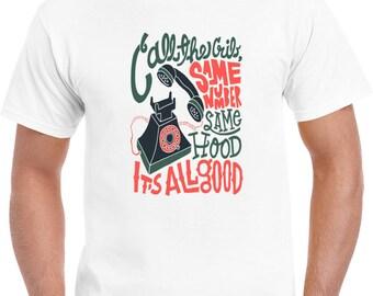 Biggie Smalls Call The Same Number Lyrics T Shirt