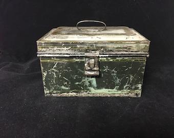 Vintage Rectangular Tin Box