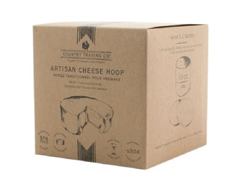 Country Trading Co. Artisan Cheese Hoop with Flipping Boards
