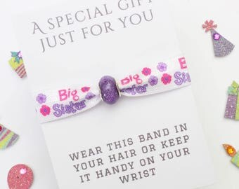 Big Sister Gift - Charm Band - Friendship Band - Handmade Gift