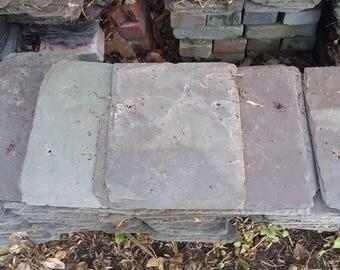 Vintage Slate Roofing Tiles - Art painting - Farmhouse - 3 Sized - Montana