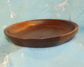 Deep Dish Black Walnut Plate