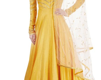 Anarkali Salwar Kameez Indian Bollywood Pakistani Bridal Designer Wedding Dress Party Wear