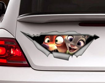 Zootopia decal, car decal, Vinyl decal, Zootopia  sticker, funny decal,