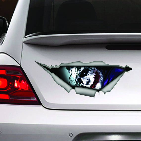 Joker Car Decal Joker Decal Joker Sticker Vinyl Decal Car - Vinyl decals for cars uk