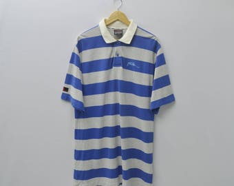 FUBU Shirt Vintage FUBU Multicolor Striped Tee Polo Shirt Size L