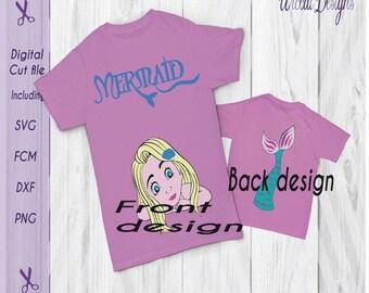 Mermaid svg, mermaid shirt svg, tail svg, girls svg, dxf cut files, under the sea svg, kids svg, scanncut, svg files for tshirt, cricut svg
