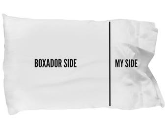 Boxador Pillow Case - Boxador Gifts - Boxador Pillowcase - Boxador Pillow Cover - Boxador Plush - Boxador Dog Side My Side