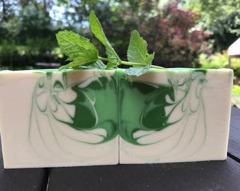 Rosemary Spearmint Cold Process Soap / 100% Natural Soap