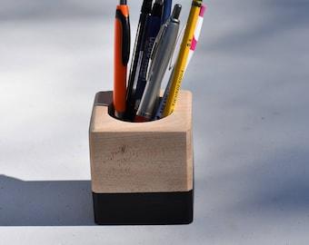 Maple Pencil Holder Wooden Pencil Holder colored pencil holder pencil container wooden pen holder