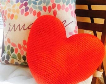 Hooked On You Crocheted Pillow