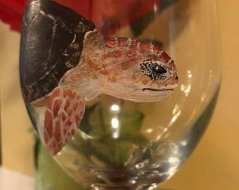 Sea Turtle Wine Glass