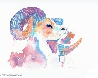 Rainbow Ram - Print