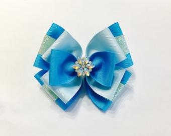 Elsa Frozen Hair Bow