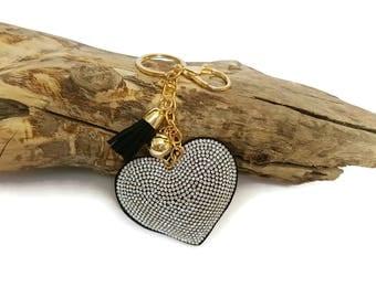 Black Heart key & tassel