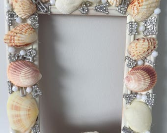 Frame , art deco, sea shells, beads