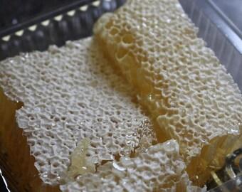 Raw Wildflower Honey, 100% Raw Honey in The Comb, Spring Honey, Honey, 5 oz unfiltered In The Comb Honey