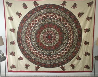 Red Elephant Tapestry
