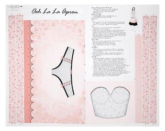 Ooh La La Apron Panel - Ink Arrow Fabrics - Bride to Be Gift - DIY Sewing Easy
