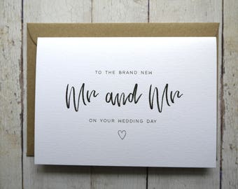 Mr and Mr Wedding Day card // Congratulations on your wedding day // Card for two grooms // Gay Wedding day card // Gay Wedding //