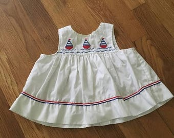 20% off -- 1980's red, white & blue sailboat swing top - size 36 months / 3t