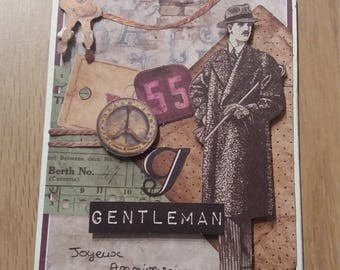 Card - birthday card - Gentleman