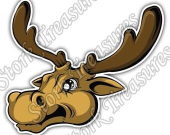 Elk Deer Moose Racks Hunting Hunter Car Bumper Vinyl Sticker Decal