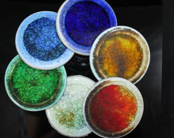 Colorful Glass Coasters
