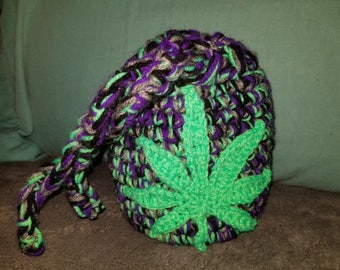 Large cannabis leaf stash bag
