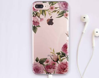 Flowers iPhone 7 Case iPhone 6 Case Roses iPhone 6S Case 7 Plus iPhone Case Floral iPhone 5 Case Clear Case 5s Phone Case For Samsung S6 014