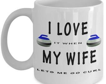 Curling Coffee Mug - Funny Coffee Mug - Curling Mug - Unique Coffee Mug - Humorous Mug - Winter Sport - Gift For Her - Gift For Him